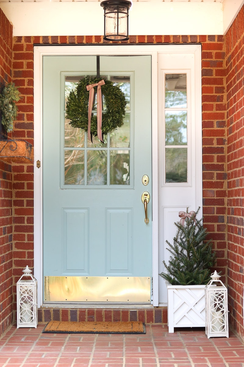 Christmas home tour front door