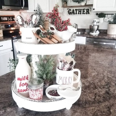 Styling Tiered Trays Christmas