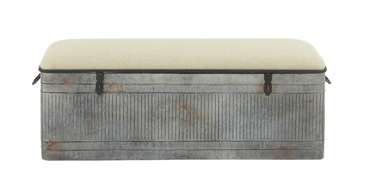 Storage Solutions Metal Storage Bench