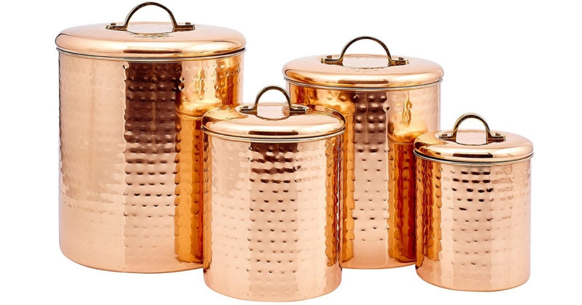 Storage Solutions Copper Canister Set