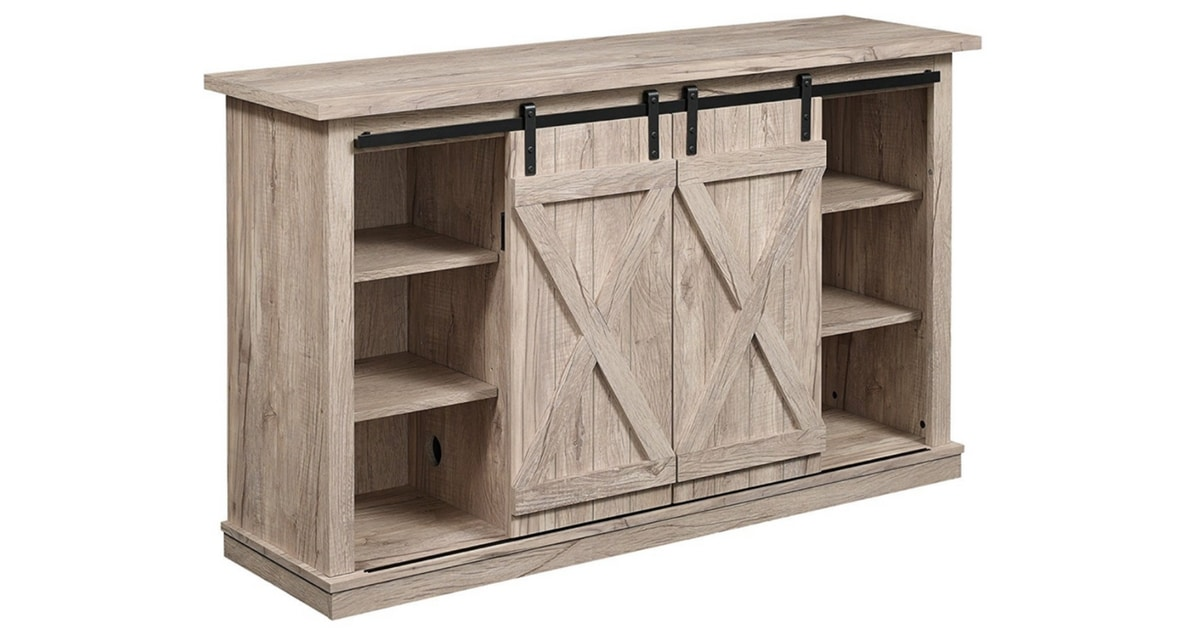 Storage Solutions TV Stand Barn Door