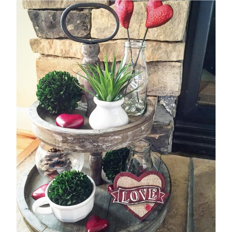 Valentine Tiered Trays Our Rustic Haven