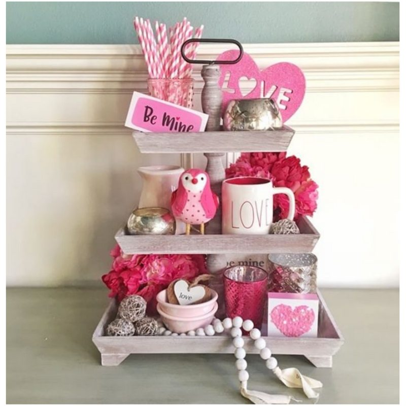 Valentine Tiered Trays Stager Roz