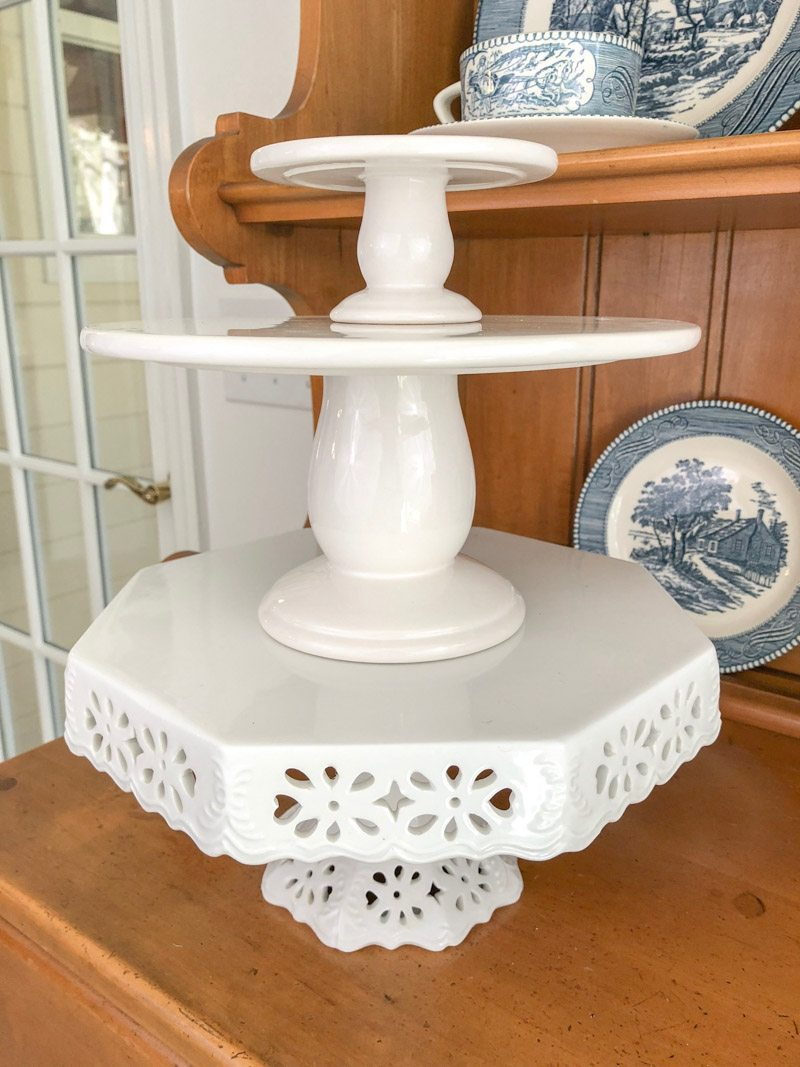 styling tiered trays cake stands