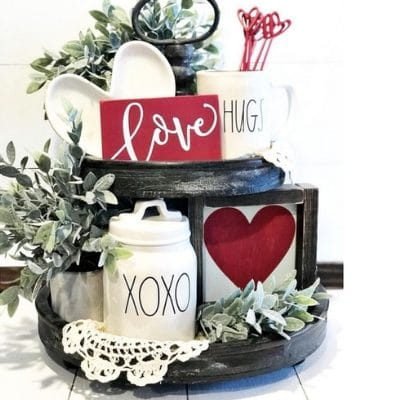VALENTINE TIERED TRAYS SEALED WITH A KISS