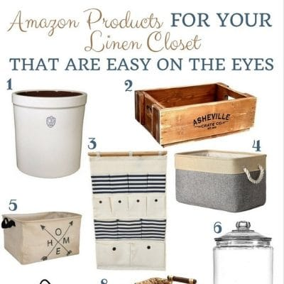 AMAZON LINEN CLOSET PRODUCTS THAT ARE EASY ON THE EYES