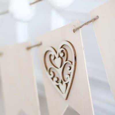 Valentine wood crafts heart banner