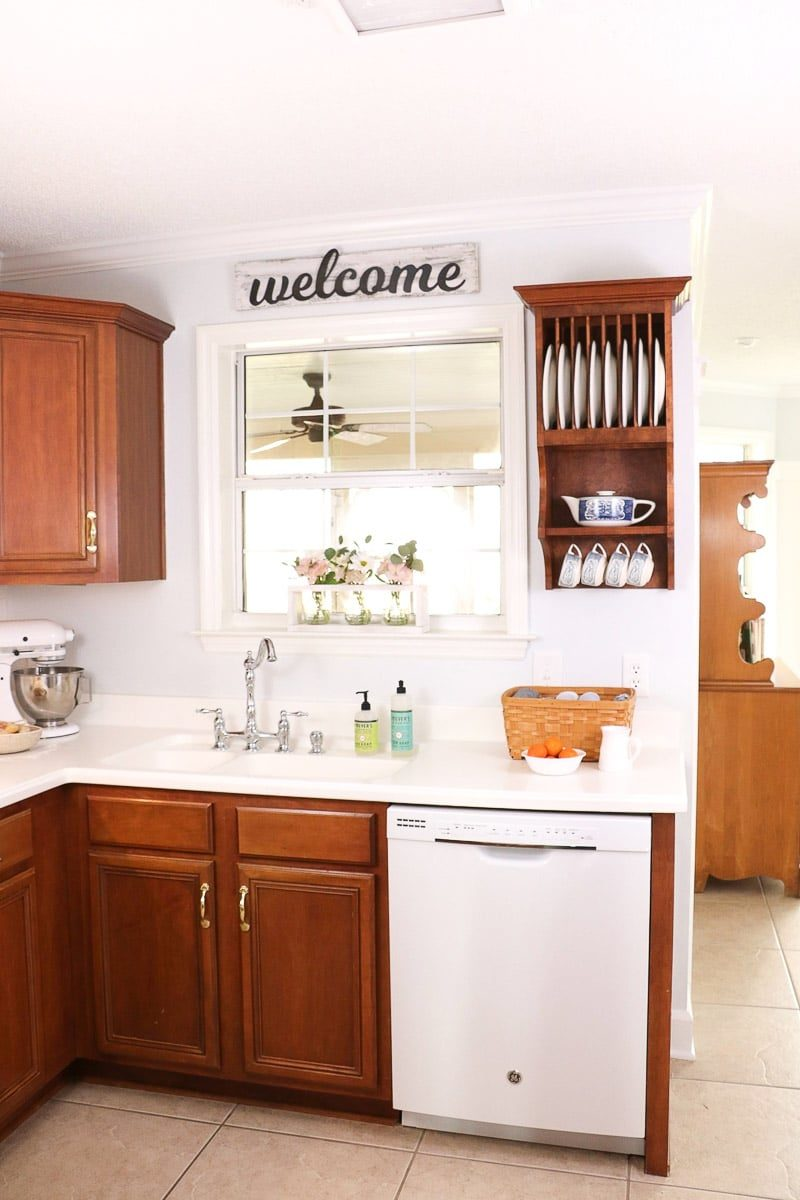 Kitchen paint color in Sherwin Williams Rhinestone paint color