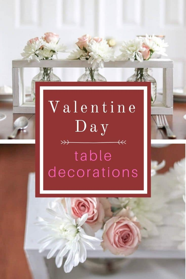 Easy Valentine day table decorations that will bring a smile to your love one. Valentine's tablescape with a sweet farmhouse style. Come see this beautiful elegant table design ideas with roses…