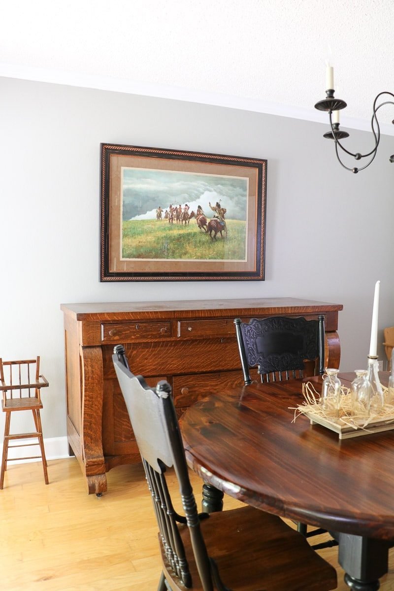 Magnolia paint color Cupola in a dining room