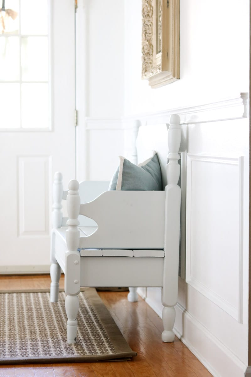 farmhouse wainscot ideas foyer bench