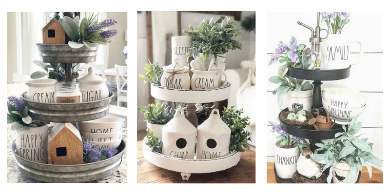 Create Irresistable Rae Dunn Tiered Trays With These Ideas