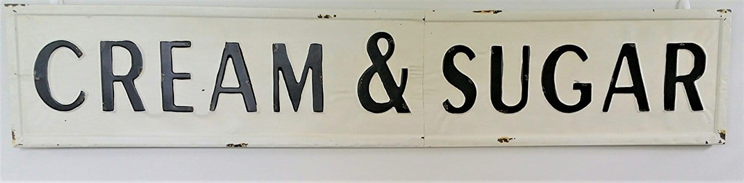 Amazon Farmhouse Kitchen Cream & Sugar Sign
