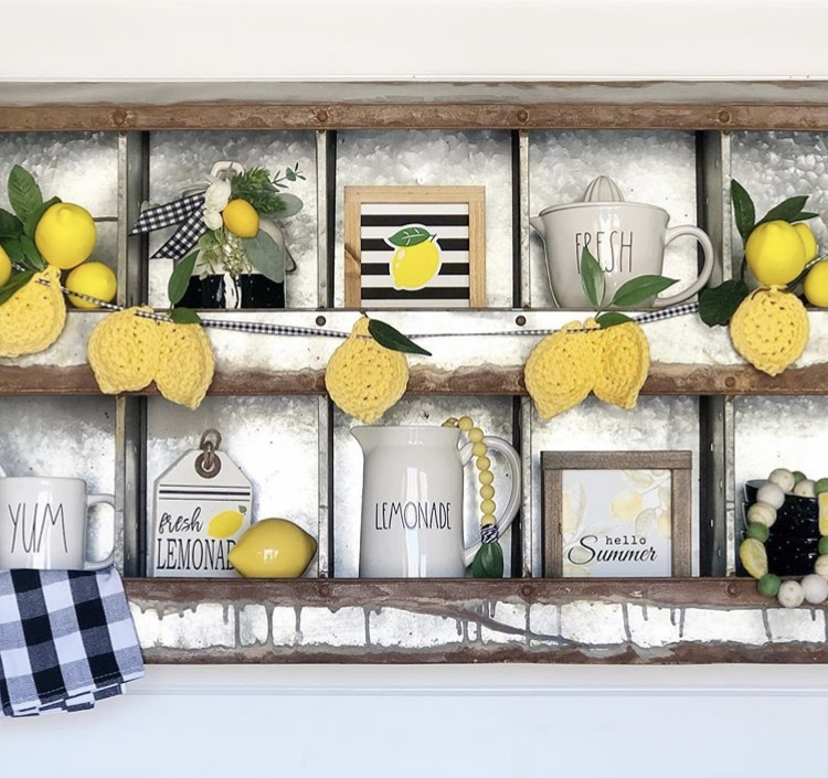Chicken Nesting Boxes by Family Shiplap & Dunn with a chicken nesting box filled with lemon decor