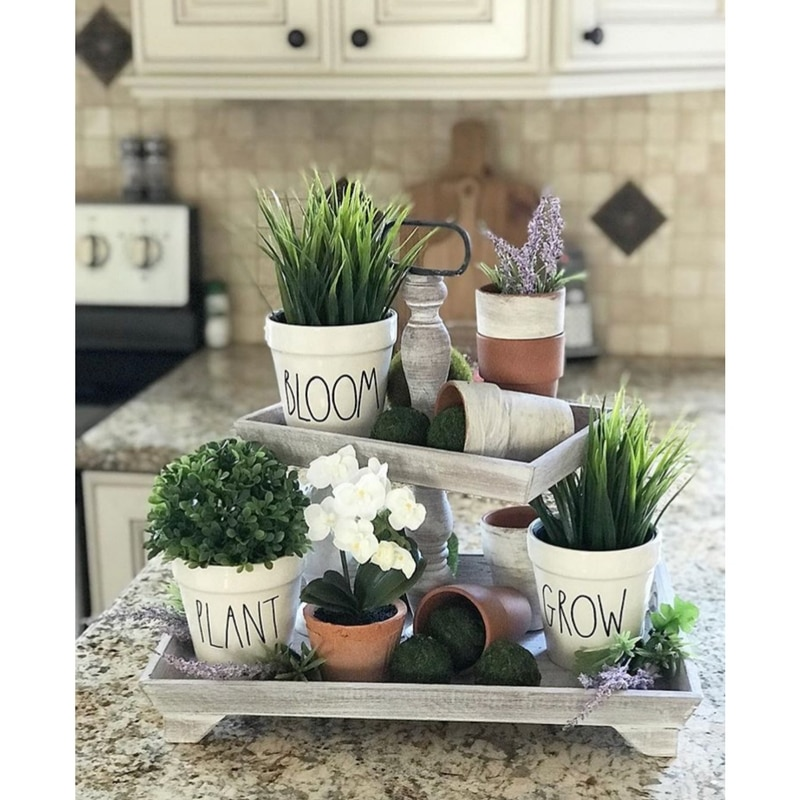 Rae Dunn Trays & Rae Dunn Coffee Mugs Rae Dunn Bloom, Grow & Plant Pots by Simply Luka Home