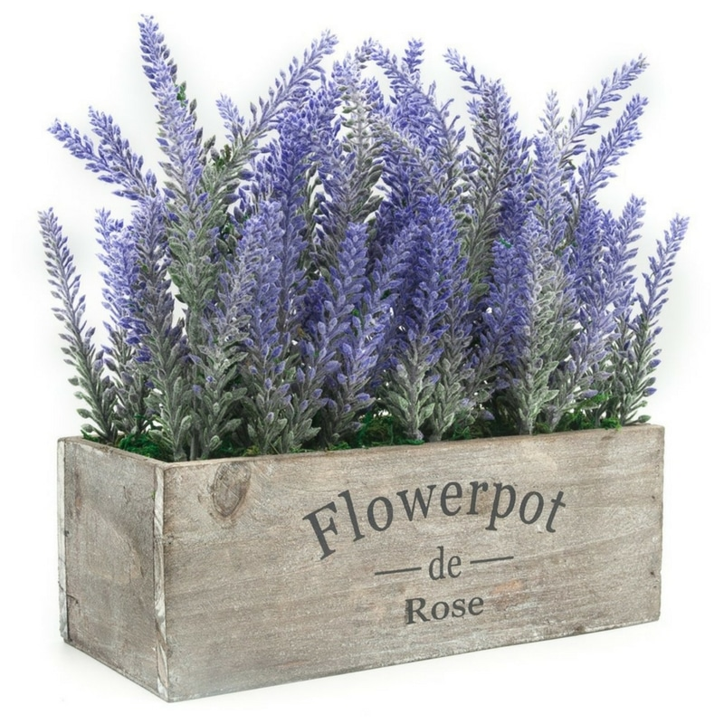 Amazon Farmhouse Kitchen Artificial Lavender Potted Plant