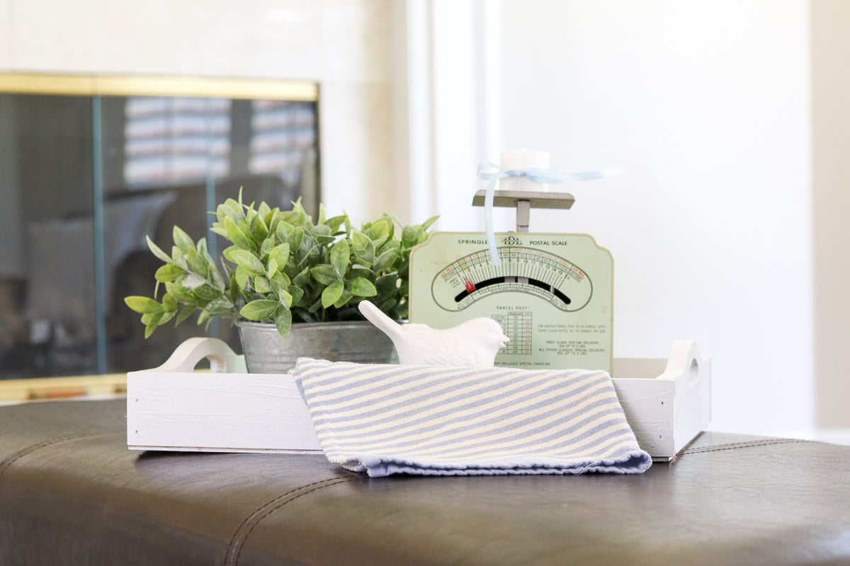 Decorating with vintage scales that creates ounces of fun