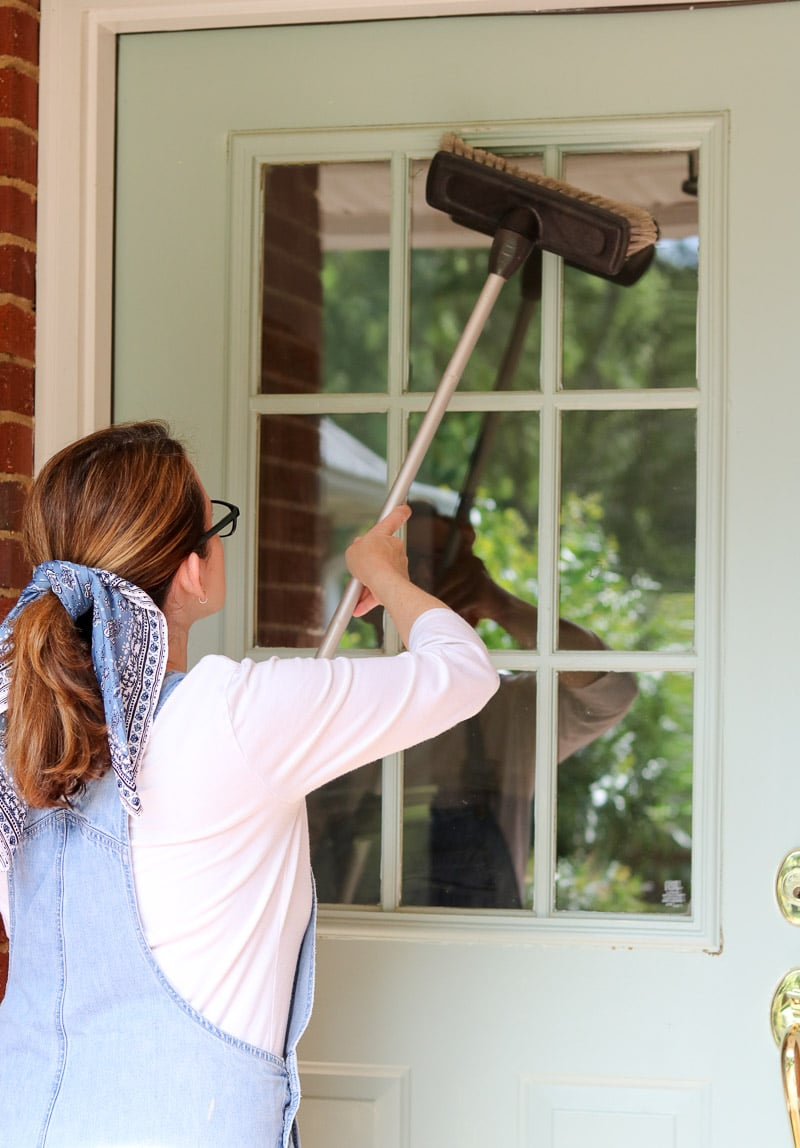 how to paint a front door without removing it cleaning