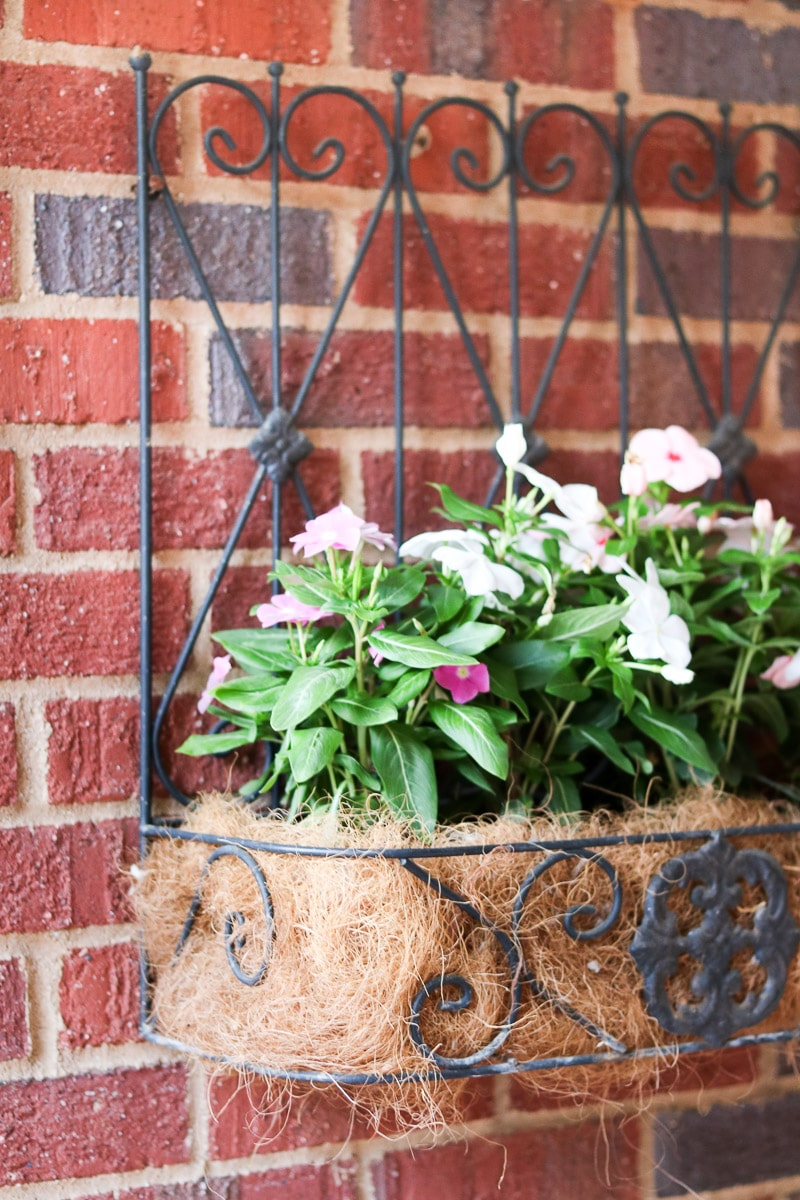 small front porch decorating ideas wall planter
