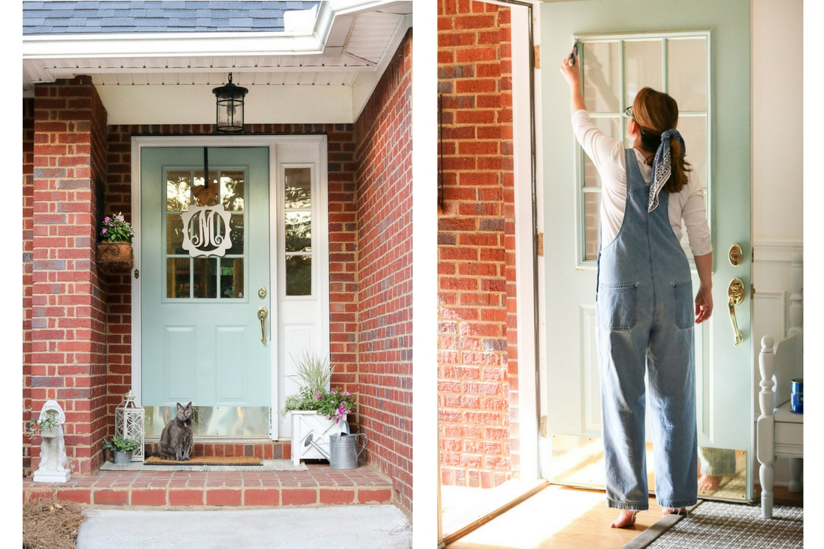 How To Paint A Front Door Without Removing It The Easy Way