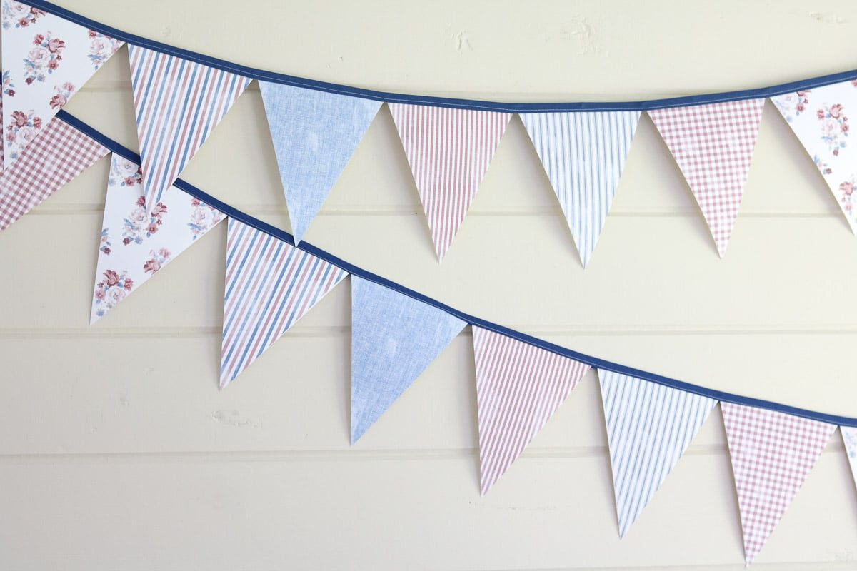Pennant Banner Template Finished Banners