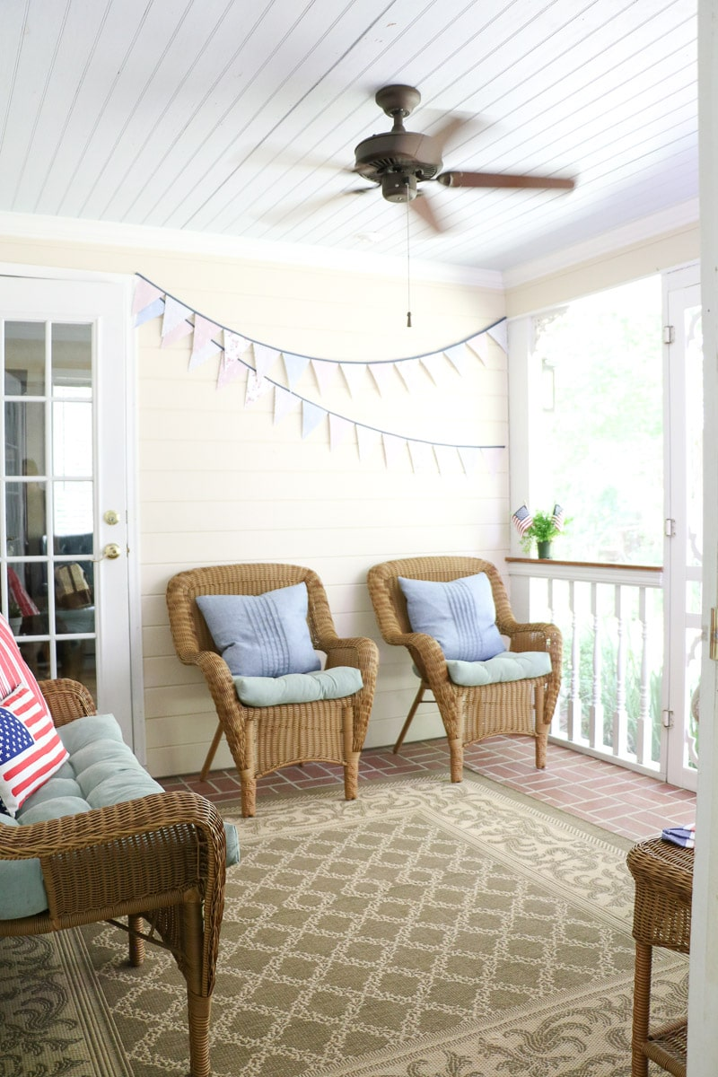 4th of July decorating ideas on the back porch
