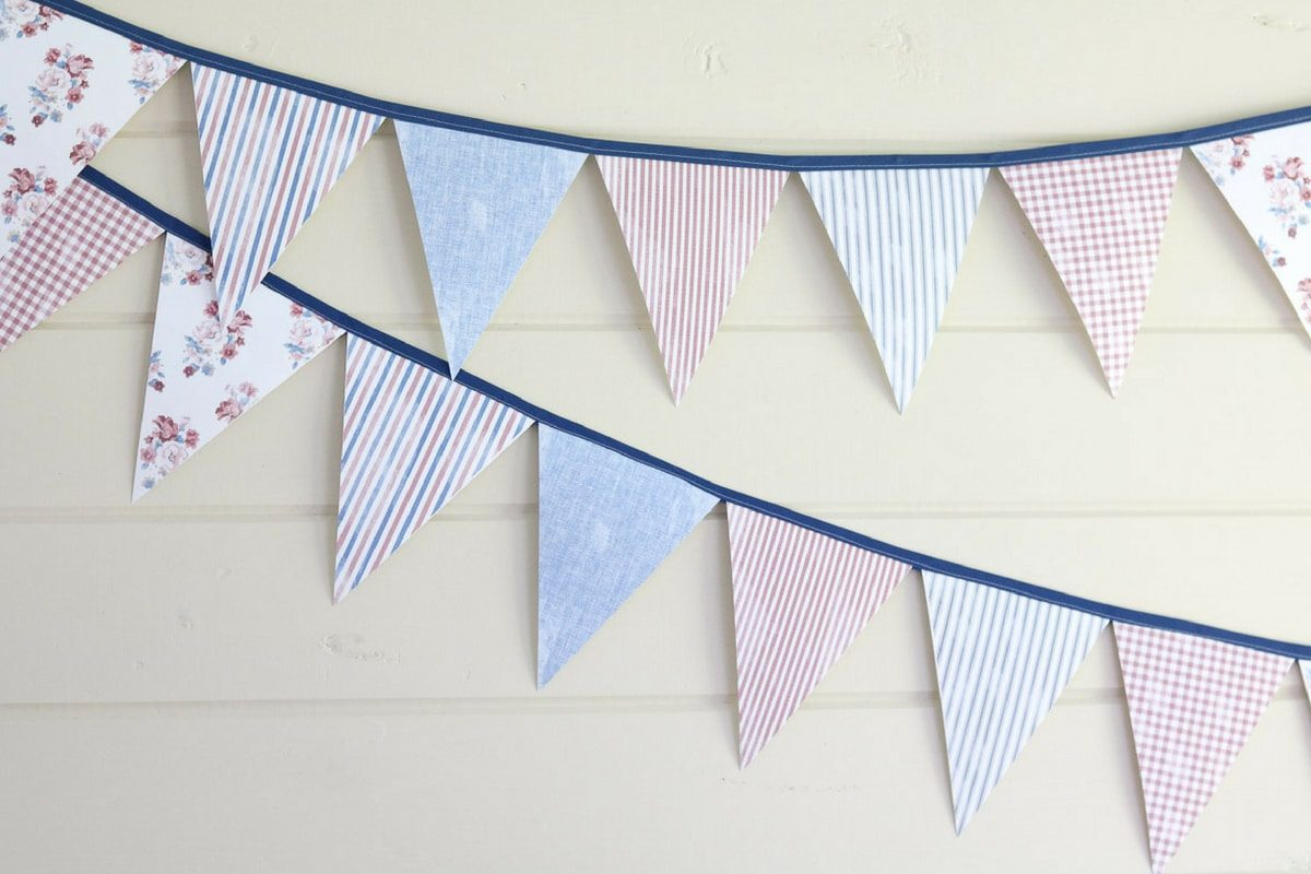 Pennant banner template printables to decorate for the 4th of July