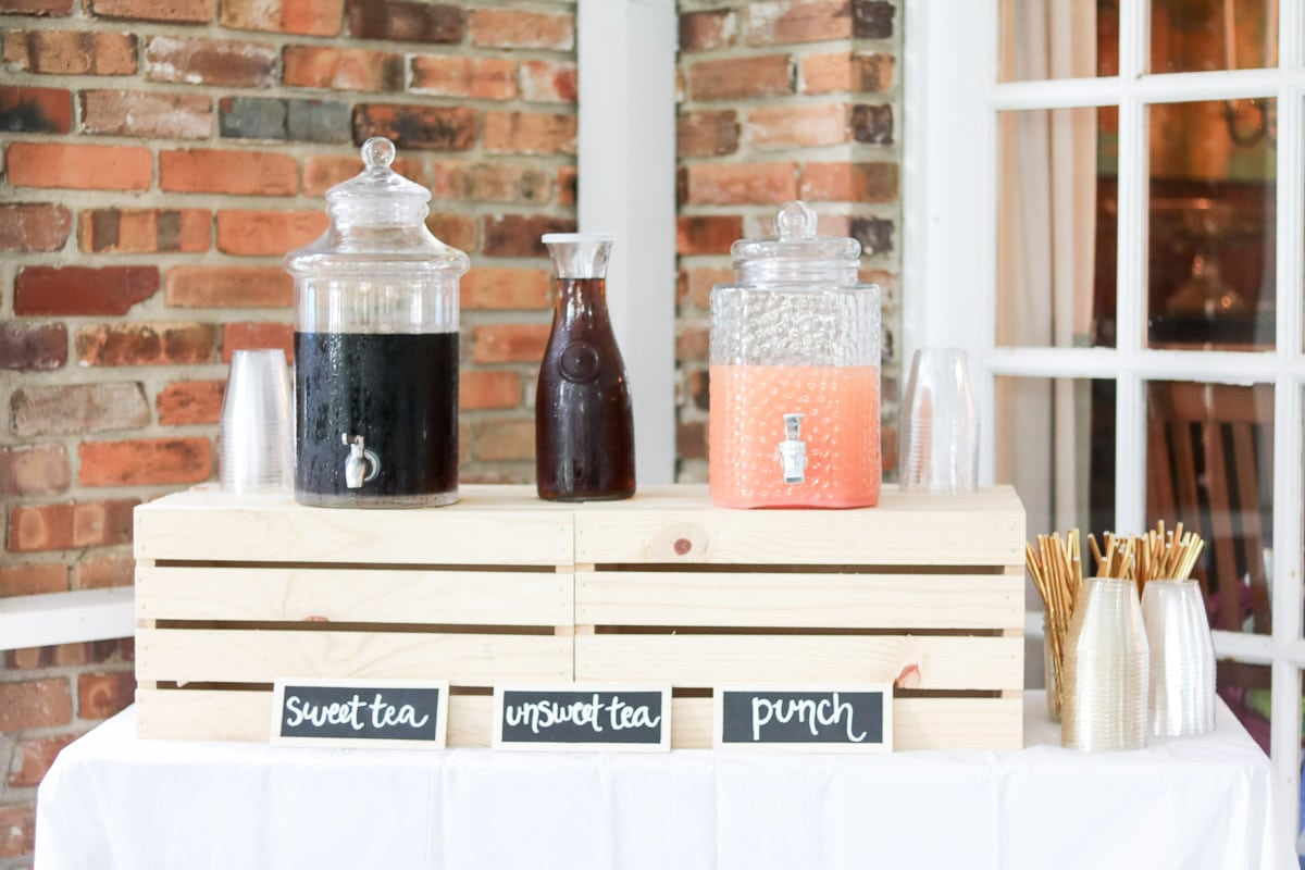 event planning checklist drink table