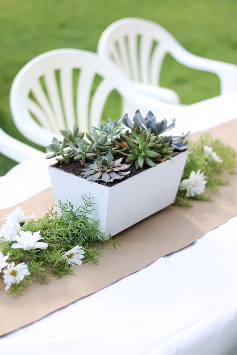 event planning checklist succulent centerpiece