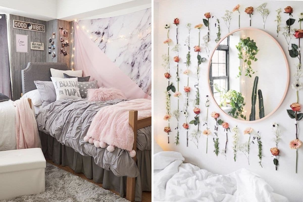 Girly girl college dorm decor ideas - College dorm room ideas examples ...
