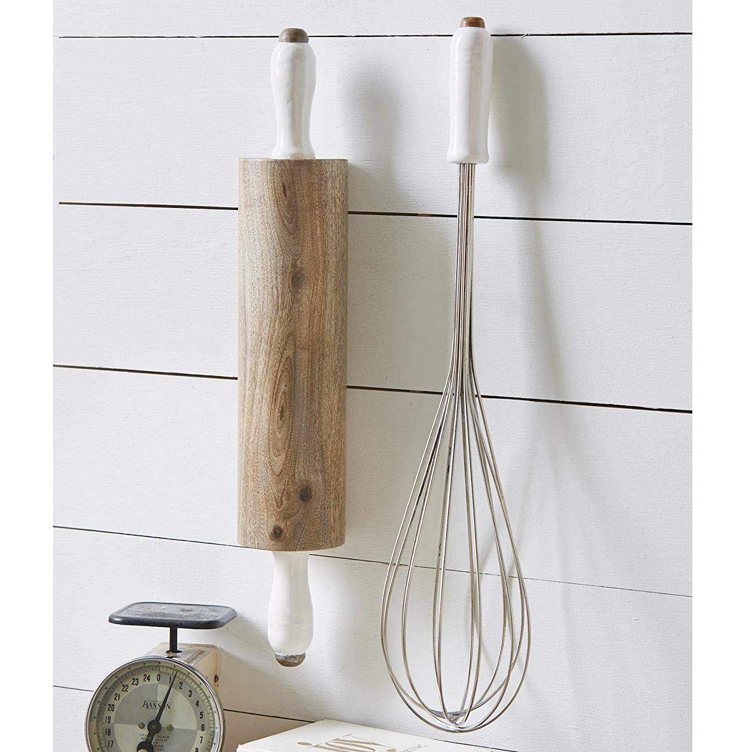 Garden party essentials rolling pin and whisk decorations
