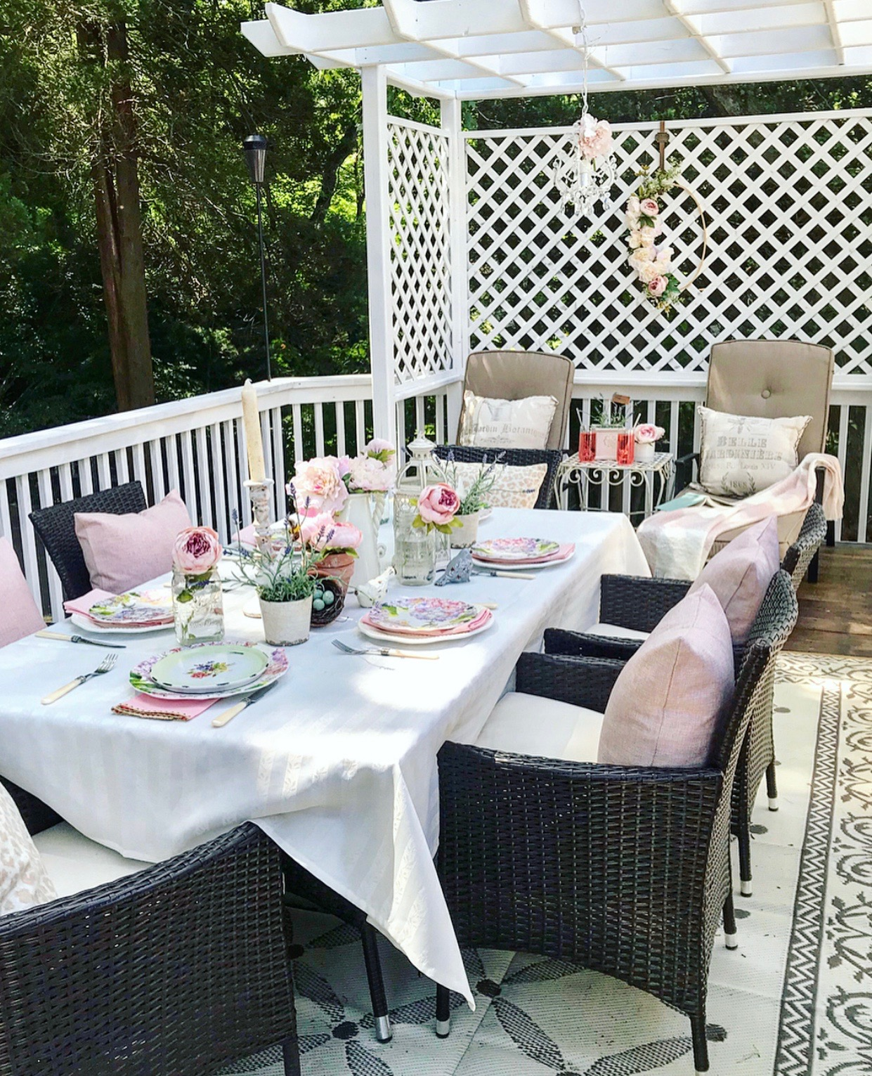 outdoor party decoration ideas painted pink peony co