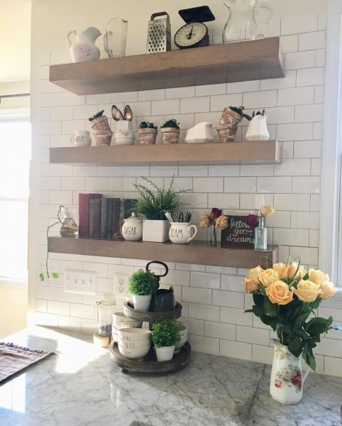 Styled Shelves Nest of Petals