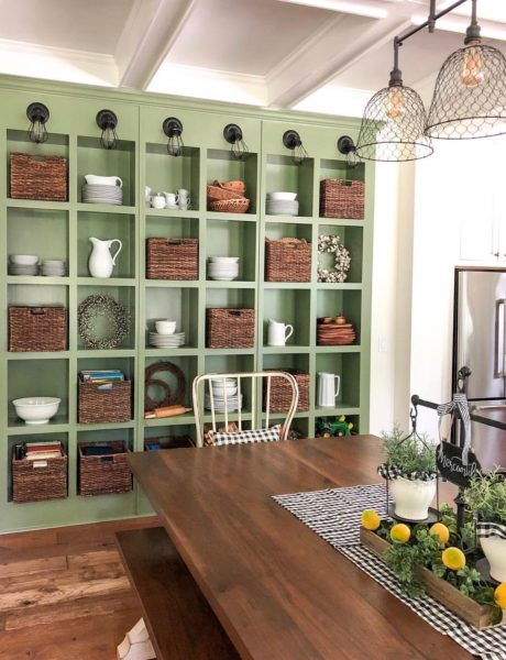 Styled Shelves Big Family Little Farmhouse
