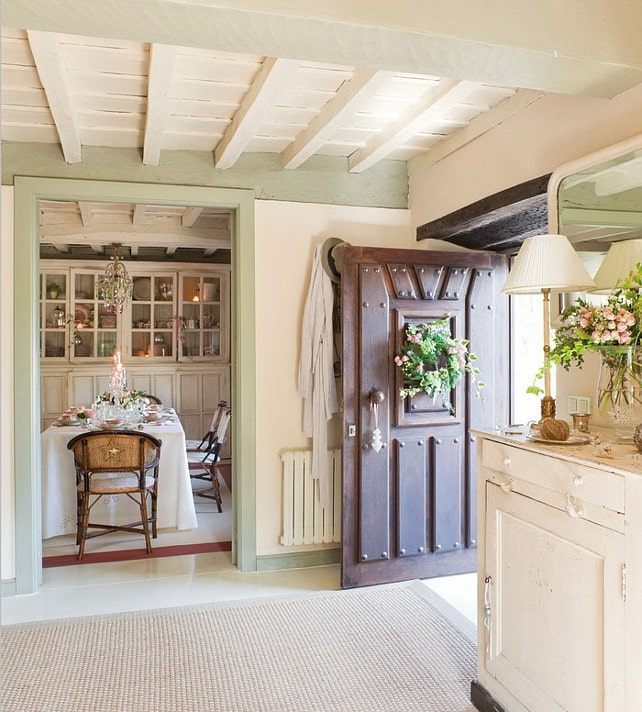 Benjamin Moore Color of the Year 2015 used on trim inside french country cottage