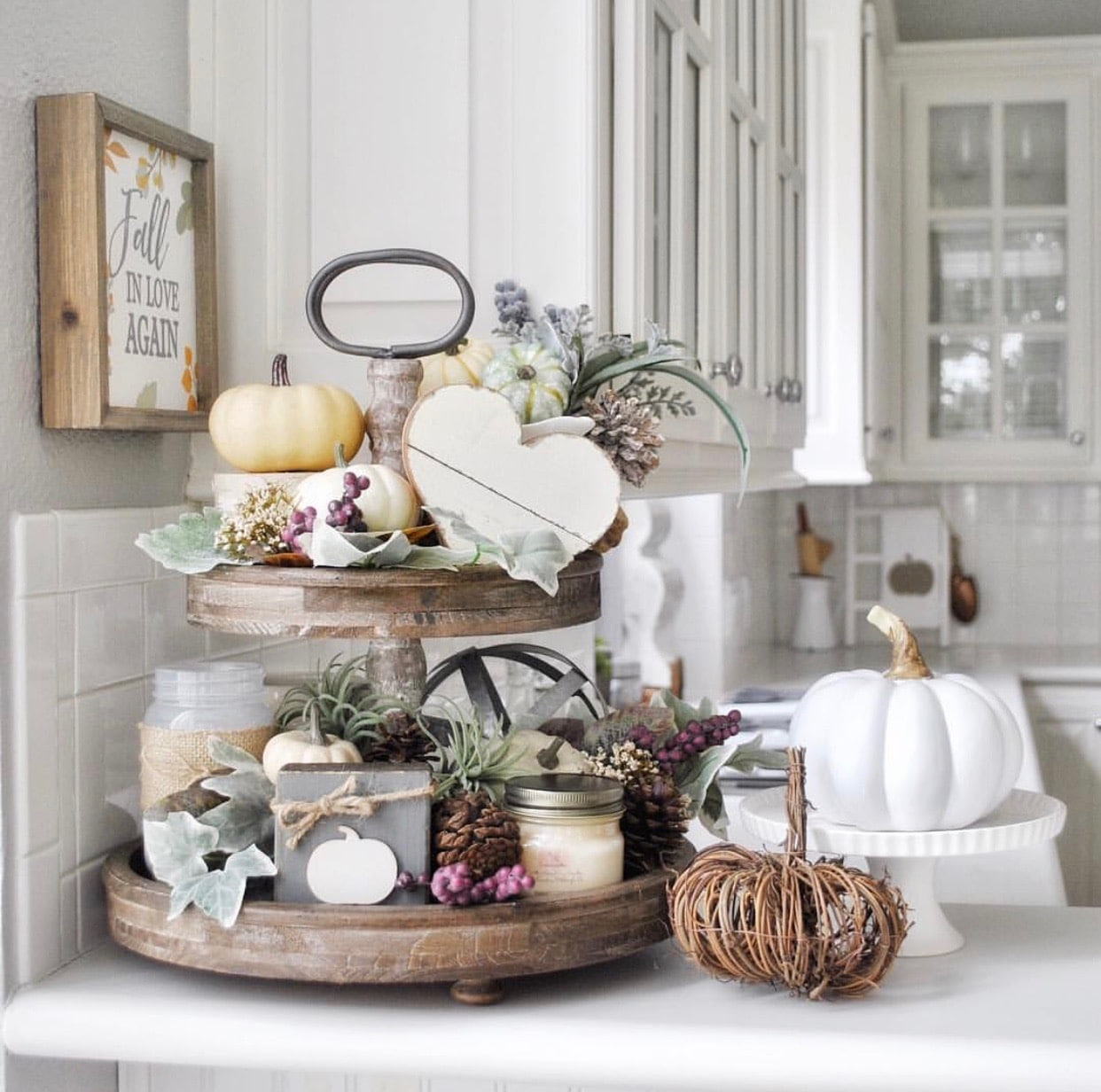 Decor Tips: SHOW STOPPING TIERED TRAYS FOR YOUR FALL DECOR