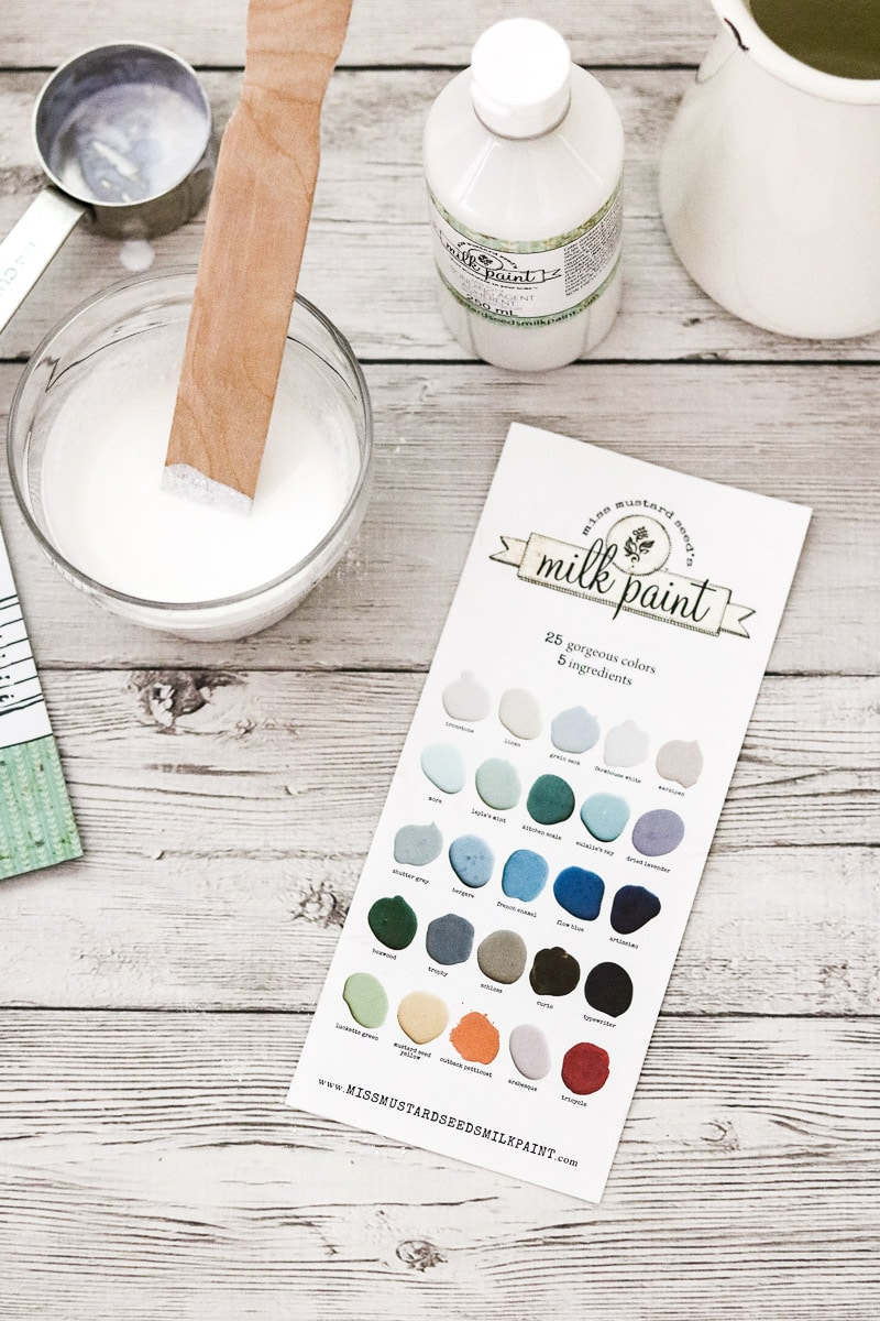 How to paint with milk paint using Miss Mustard Seed paint
