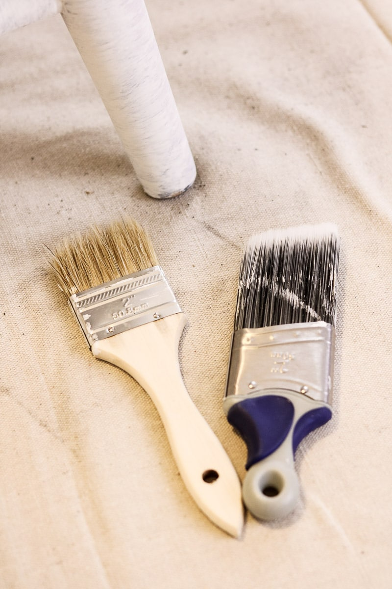 How to paint with milk paint using a Wooster paint brush