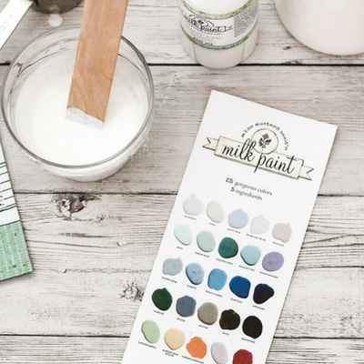 How to paint with milk paint using Miss Mustard Seed