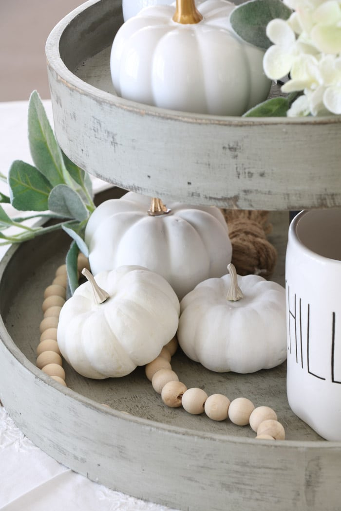 Fall decor tiered tray