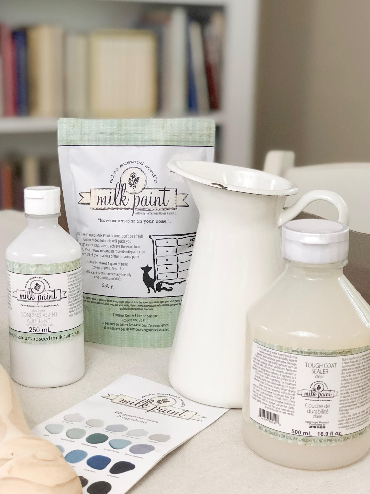 How to paint with milk paint using Miss Mustard Seed paints and other products