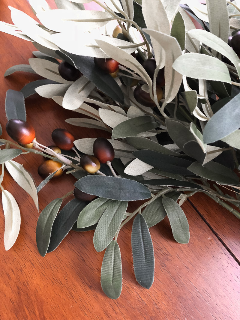 decorating with dough bowls using olive branches