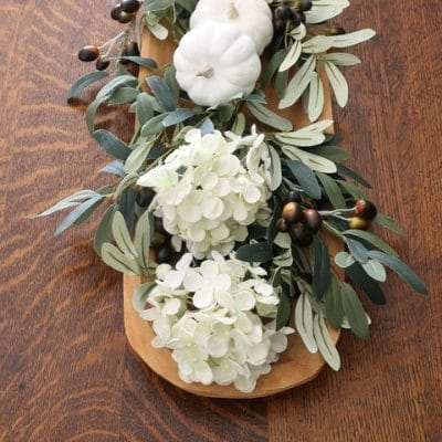 DIY FALL DECOR WOODEN DOUGH BOWL FLORAL ARRANGEMENT