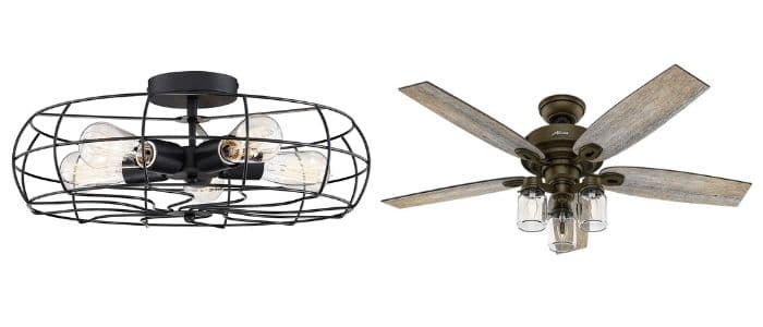 Farmhouse Ceiling Fan & Rustic Ceiling Fan with Light