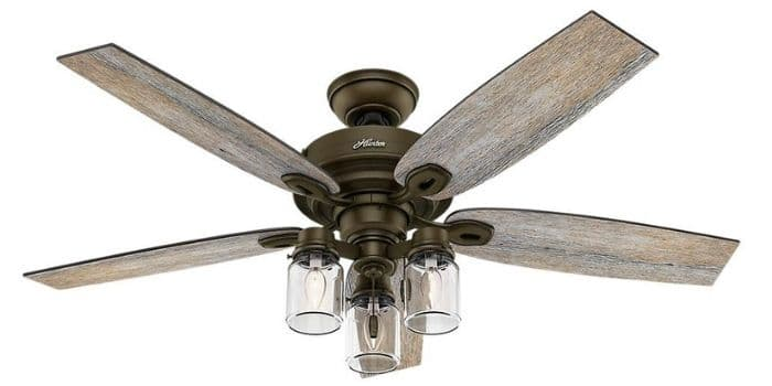 Farmhouse Ceiling Fan by Canyon  with a brushed bronze ceiling fan