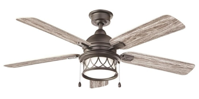 Farmhouse Ceiling Fan Artshire 52 in. Integrated LED Indoor/Outdoor Natural Iron Ceiling Fan with Light Kit