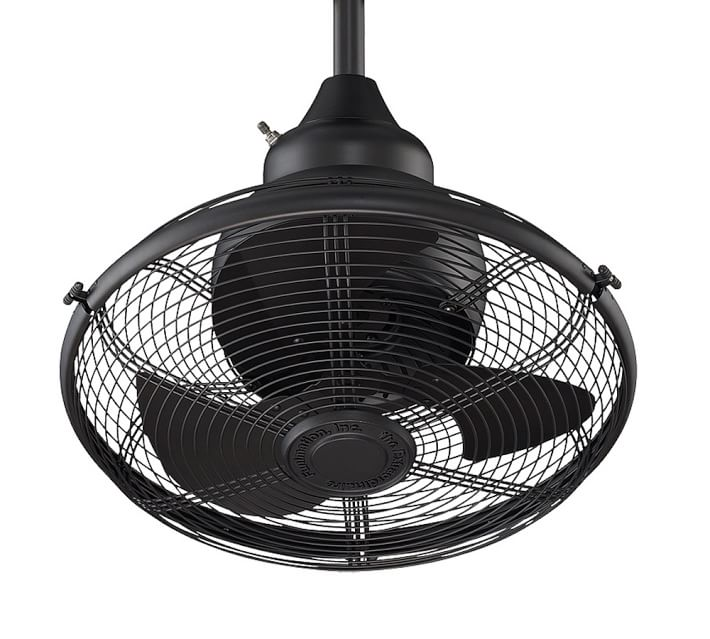 Farmhouse Ceiling Fan EXTRAORDINAIRE INDOOR/OUTDOOR CEILING FAN, MATTE BLACK