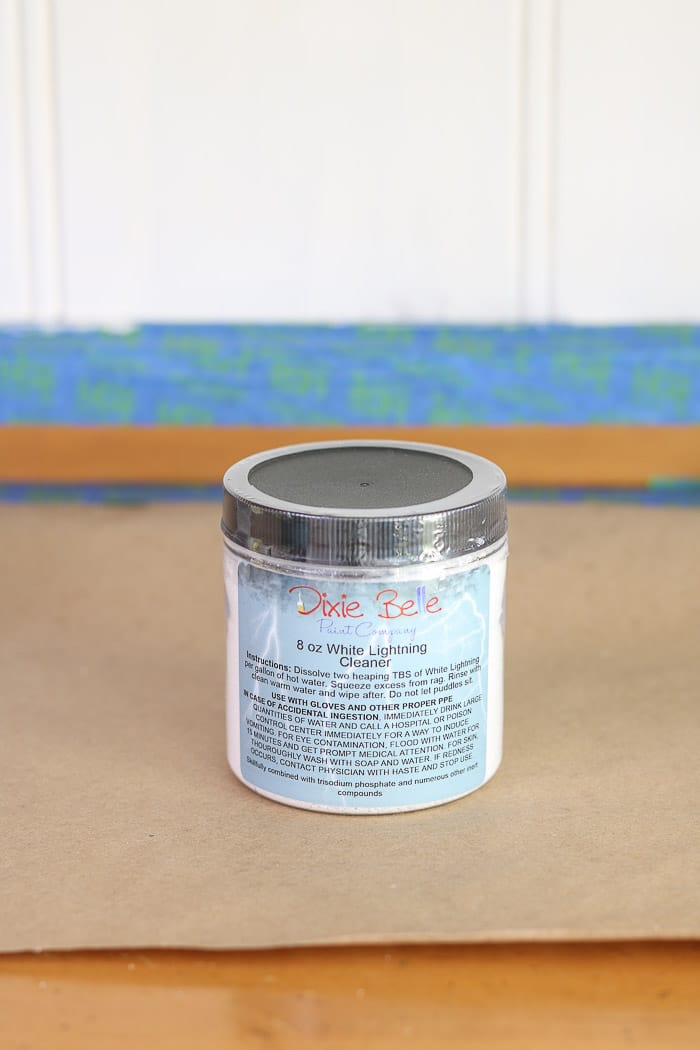 How to paint with chalk paint Dixie Belle White lightening cleaner