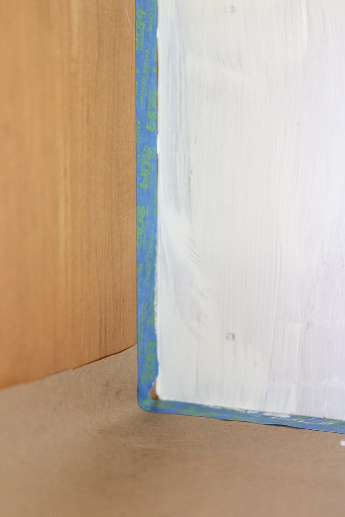 How to paint with chalk paint use painters tape to tape any areas