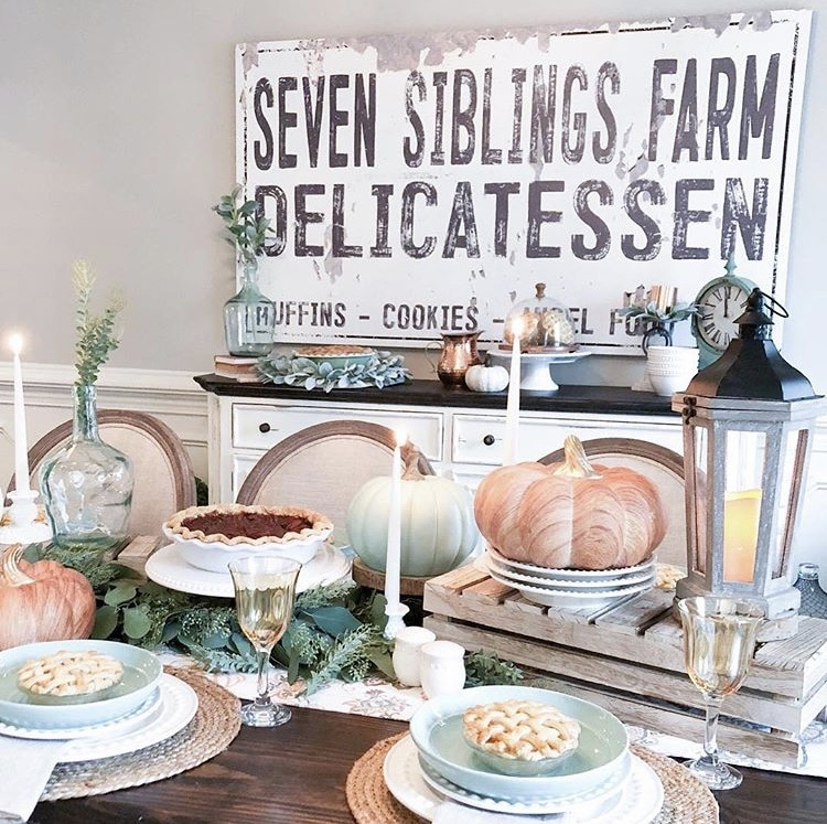 Thanksgiving Tablescapes by Jenny Reimold with a farmhouse look